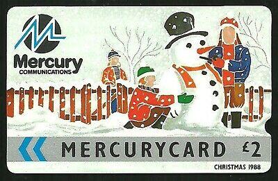 Mer008 Christmas 1988 Mint £2 Mercury Phonecard