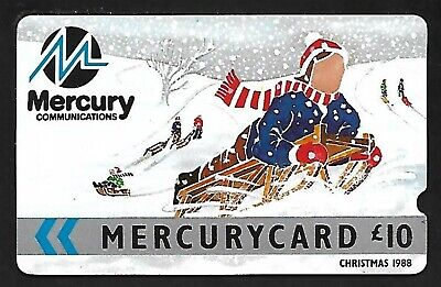 Mer010 Christmas 1988 Mint £10 Mercury Phonecard