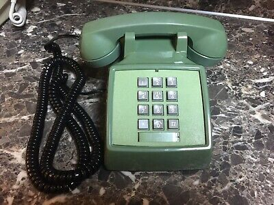 Bell Western Electric Touch Tone Telephone Vintage Green 1984 Button Desk Phone