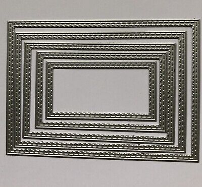 Double Inside Stitched Rectangle Craft Die. Cards,Scrapbooking. Uk Seller