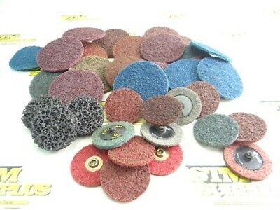 Large Lot Of Assorted Quick Change/Powerlock Surface Conditioning Discs