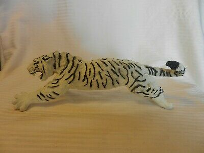 White & Black Siberian Tiger Figurine With Mouth Open from Safari Limited