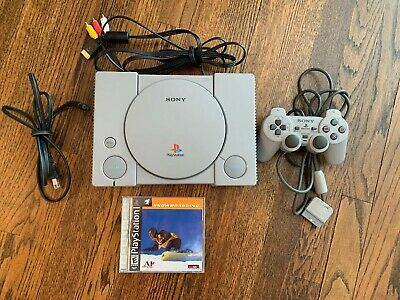 Original SONY Playstation 1 PS1 Console 1 Controllers And Game Included TESTED