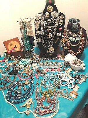 HUGE ANTIQUE & VINTAGE JEWELRY LOT - EISENBERG ICE, RENOIR, WEISS  & BOX 12lb's!