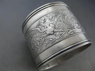 Sterling WHITING large Napkin Ring ARABESQUE 1875 no.510 ~no mono