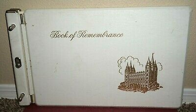 10 OLD PAGES Book Of Remembrance Mormon LDS Family Tree