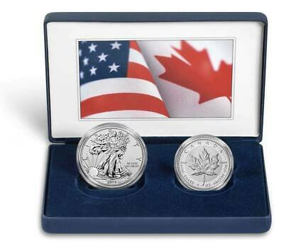 2019 Pride of Two Nations Limited Edition Two-Coin Set, Silver Eagle Maple Leaf