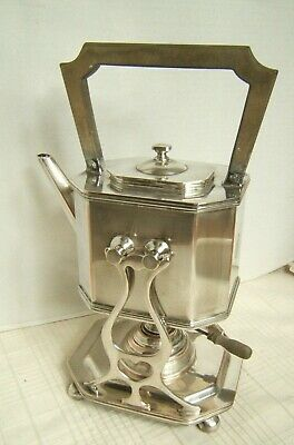Sheffield Silverplate Teapot On Stand With Burner