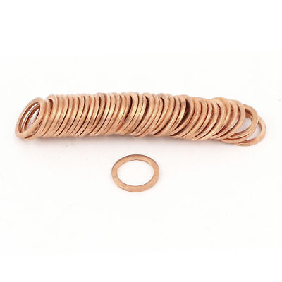 H● 50* 12 x16 x1.5mm Tattoo Machine Copper Crush Washer Flat Ring.