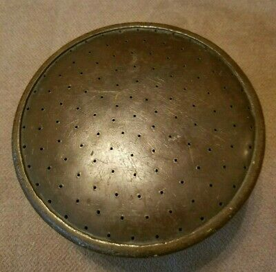 VINTAGE ANTIQUE BRASS SPRINKLING CAN HEAD - Heavy weight