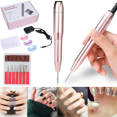 Nail File Drill Kit Electric Manicure Pedicure Portable Salon Machine Kit US