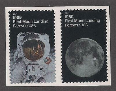 APOLLO 11 - 50th ANNIVERSARY FIRST MOON LANDING - 2 U.S. STAMPS - MINT CONDITION