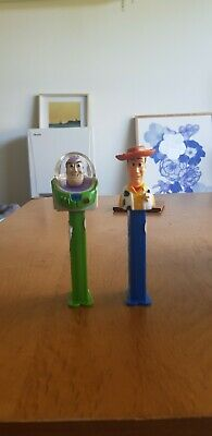Toy Story Pez Dispensers (Empty) - Woody And Buzz Lightyear