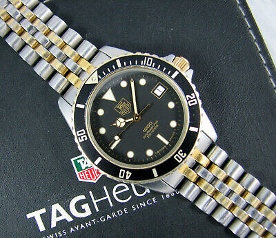 size 40 71872 10d5c TAG HEUER 1000 Professional Mens Watch Vintage Submariner 980.020