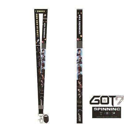 Kpop GOT7 SPINNING TOP Cell Phone Rope Strap Charm Cord Photo Lanyard Fans Gift