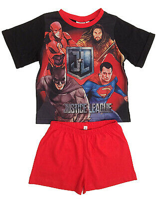 Justice League Superman, Batman, Flash & Aquaman Short Pyjamas.Age 3-10 Years