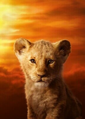 THE LION KING 2019 MUFASA TEXTLESS POSTER A4 A3 A2 A1 CINEMA MOVIE LARGE FORMAT