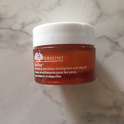 Origins Ginzing Refreshing Eye Cream Brighten And Depuff .5oz 15ml Full Size