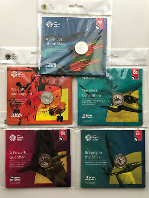 Royal Air Force Centenary Collection   Complete Set of Royal Mint Coins
