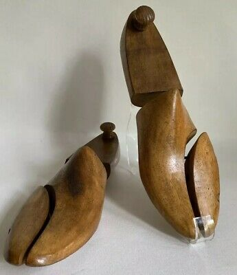 Ray Ford Ltd Pair Vintage Men's Jointed Shoe Trees Wood UK 7 EU 41M Decor Props