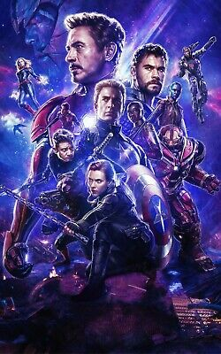 Avengers Endgame Marvel Textless Poster A4 A3 A2 A1 Cinema Movie Large Format