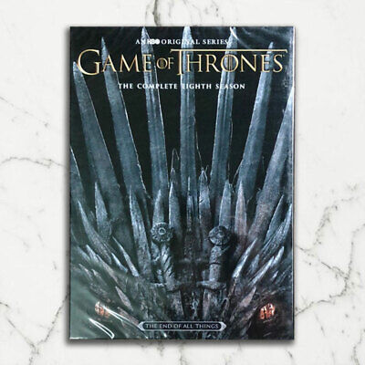 Game 0F of Thrones:The Complete 8 Season (DVD, 3-Disc) Shipping USPS First Class