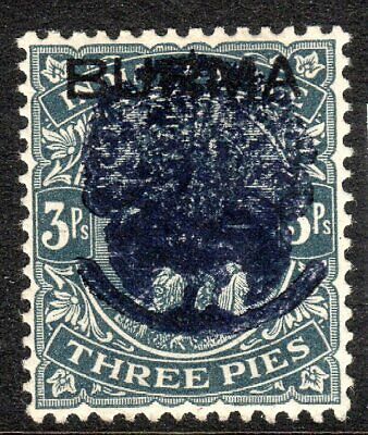 Burma 1942 Japanese Occupation slate 3pies SG J22