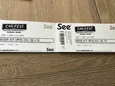 Carfest North Family Camping Tickets 26-28 July 2019
