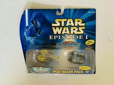 1999 Micro Machines - Star Wars Episode I (Pod Racers Pack IV) (MOC)