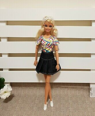 New doll denim skirt and blouse outfit daily clothes for your Barbie Au seller