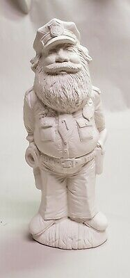 Ceramic Bisque Policeman Santa Nowell Mold NM 1974 Cop Ready To Paint