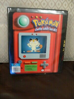 Original 1999 Large Pokemon Ring Binder - With 20 Pocket Pages - Trading Card