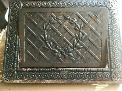 "ORNATE EMBLEM  Heat Wall Reg  8"" x 11"" Wall Opening - RARE VINTAGE-Works! approx"