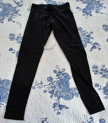 Justice Black Leggings With Sparkles. Size: 12. Preowned (6348)