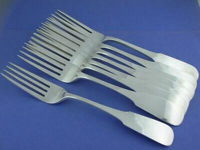 8 Sterling OLD NEWBURY CRAFTERS ONC Dinner Size Forks MOULTON handwrought NoMono