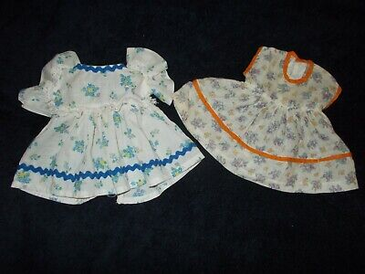 Vintage Antique Doll Dress Clothes Lot Of Two