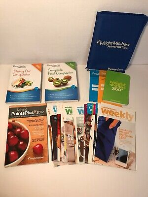 Weight Watchers 2012 Dining & Complete Food Companion + Weekly Booklets & More