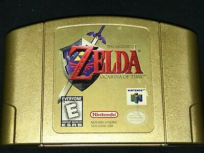Legend of Zelda: Ocarina of Time GOLD (Nintendo 64, 98) Cleaned/Tested/Authentic