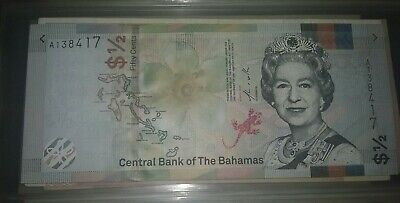 NEW UNC Bahamas Half Dollar Fifty 50 Cents 2019 Very Rare Banknote Commonwealth
