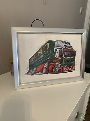 Eddie Stobart Picture In Silver Frame - Art Work