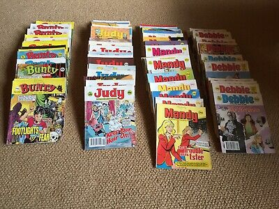 98 Job Lot Mandy Judy Bunty Debbie Comic Picture Story Library Books *1980S*
