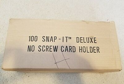 (100 Count) Snap-It  NO SCREW CARD HOLDERS BRAND NEW FROM CASE!! BASEBALL CARD