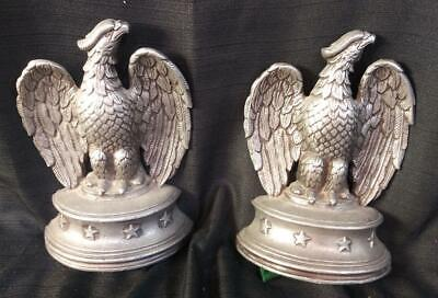 Vintage Pair of Two 2 Set of American Eagle Federal Style Americana Bookends