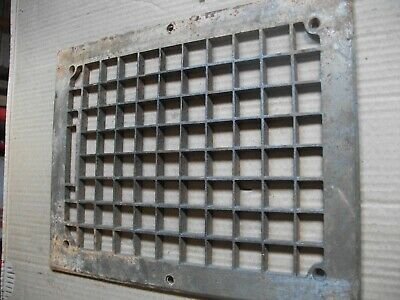 Heat Air Grate Wall Register 11x 14 approx. OA   9 x 12 wall opening SQUARE HOLE