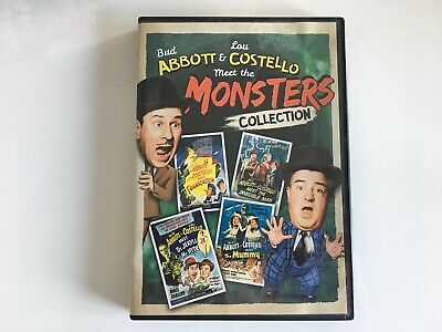 Budd Abbott and Lou Costello Meet The Monsters dvd collection Frankenstein Mummy
