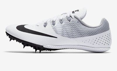 NEW - Nike Zoom Rival S 8 Men's Racing Spikes 806554-110 - White/Wolf Gray/Black