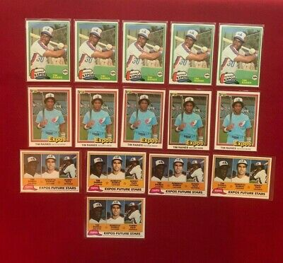 Hall Of Fame Tim Raines Rookie Lot 1981 Topps Traded * Donruss * Topps