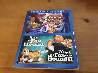 Brand New The Fox and the Hound 3 Movie Collection Bluray + DVD Oliver & Company