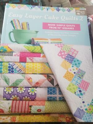 """Easy Layer-Cake Quilts 2 - Quilts From 10"""" Squares - A+ Quilt Book"""