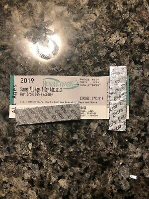 Hershey Park One Day Admission Ticket / Pass With Preview Plan - Expires 7/31/19